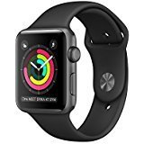 Apple Watch Series 1 42mm Smartwatch (Space Grey Aluminum Case, Black Sport Band)