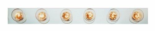 Trans Glob Lighting 3006 BN 6-Light Basic Strip Bathroom Bar Light, Brushed Nickel by Trans Glob Lighting