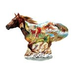 At the Gallop Horse Shaped Jigsaw Puzzle 500pc