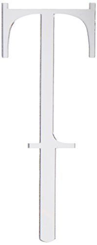 Oasis Supply 3-Inch Cupcake/Cake Decorating Ornament with a Beautiful Mirror Look, Small, Monogram Letter