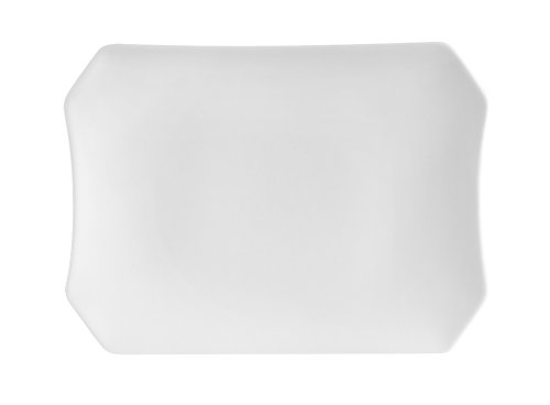 CAC China RCN-H34 Clinton Rolled Edge 9 by 6-1/4 by 1-1/4-Inch Porcelain Rectangular Platter, Super White, Box of ()