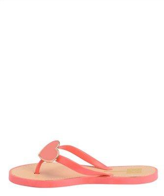 Amy 1 Jelly Heart Flip Flop Comfort Platte Sandalen Koraal