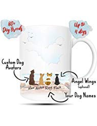 Personalized Dog Mug - Customizable Pet Name and Picture Custom Coffee Mug - Perfect Gift Idea For Dog Lovers, Fur Mom or Dad, In Memory of Fur Babies, Pet Memorial Coffee Cup (15oz)