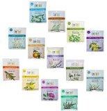 Aura Cacia 2.5 Oz Mineral Bath Packet, All 13 scents Variety - Aromatherapy Euphoria Mineral Bath