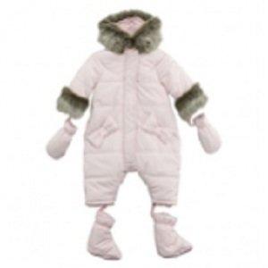 ea0ab6dfe292 Amazon.com  Tartine et Chocolat fur trimmed pink snowsuit  Baby