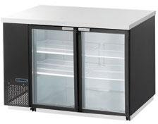 Maxx Cold MCBB60-2BG 60'' Back Bar Cooler with 19 cu. ft. Capacity Painted black Coated Steel Exterior Solid Doors with Locks 1/3 HP Easy Cleaning and Servicing in