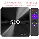 MINGHOO 2017 Newest Tv BOX Octa core Android 7.1 TV Box 3GB+16GB with BT 4.0 Supporting 4K (60Hz) Full HD /H.265 /WiFi Streaming Media Player