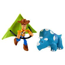 Toy Story Figures Buddy Pack Kite Woody & Trixie 2 Inch High Mini Figures Works With Pull & Go Vehicles