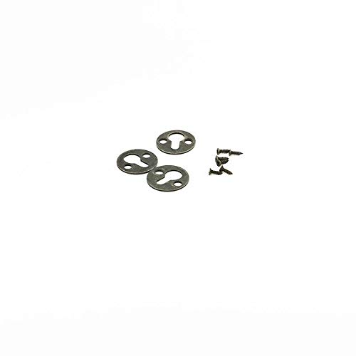 25mm Dia Metal Round Type Keyhole Shelf Brackets Hangers for Picture Frame Hanging with Screws Pack of 50