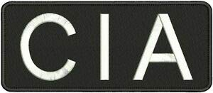 CIA Embroidery Patch 4x10 Hook by HighQ Store