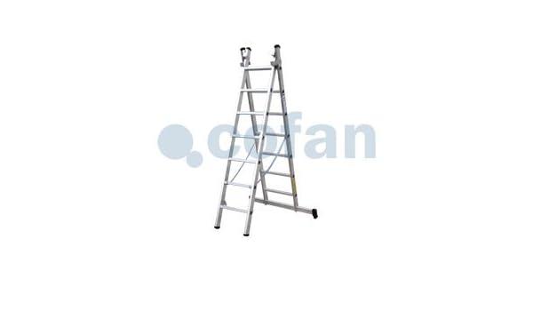 Escaleras de Aluminio en dos tramos con EN 131 y resistencia a 150 kilos máximo.: Amazon.es: Bricolaje y herramientas