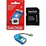 Sandisk 32GB Class 4 MicroSDHC MicroSD C4 TF Flash Memory Card with SD Adapter and USB SD Card Reader/Writer #R13 (Bulk Packaged)