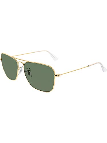 Ray-Ban Unisex Sunglasses, Gold Lenses Metal Frame, ()