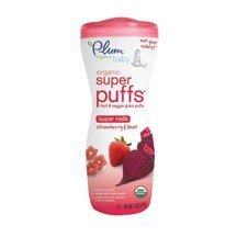 Plum Tots Red Strawberry and Beet Super Puff Baby Food, 1.5 Ounce - 8 per case. by Plum Tots