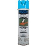Precision Line Inverted Marking Paint - Rust-Oleum 205176 M1800 System Precision Line Inverted Marking Spray Paint, 17-Ounce, Fluorescent Blue