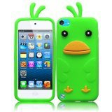 HR Wireless iPod touch 5 Funny Duck Silicone Skin Cover (Neon Green)