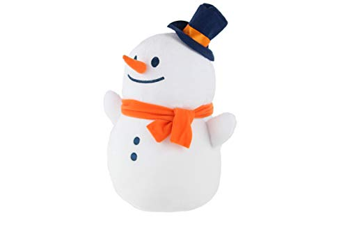 Nappy Christmas Stuffed Animal Toy Snowman Jack Frosty Christmas Decor (12 Inches)