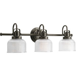 Progress Lighting P2992-74 Archie Collection Three-Light Bath & Vanity, Venetian Bronze