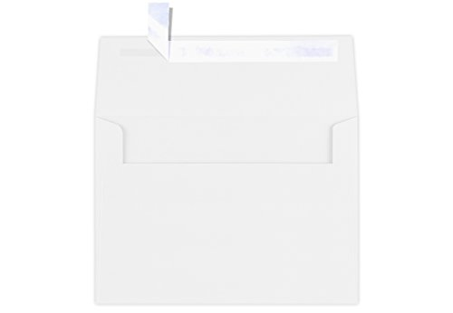 LUXPaper A7 Invitation Envelopes for 5 x 7 Cards in 80 lb. Bright White, Printable Envelopes for Invitations, w/Peel and Press Seal, 50 Pack, Envelope Size 5 1/4 x 7 1/4 (White) (Best Color Printer For Business In India)