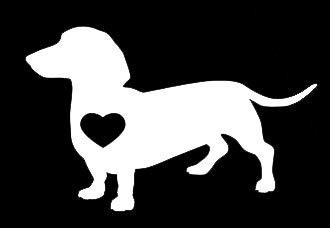 LLI Dachshund Love Dog   Decal Vinyl Sticker   Cars Trucks Vans Walls Laptop   White   5.5 x 3.5 in   LLI1269