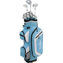 Tour Edge Bazooka 260 Women's Box Set, Right Hand, Blue/White (Tour Edge Golf Club Set)
