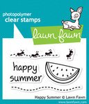 Lawn Fawn - Clear Acrylic Stamps - Happy Summer (Acrylic Stamps Lawn Fawn)