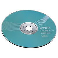 TDK T19512 700MB 12x Speed 80min CD-RW Disc Spindle (Pack of 10