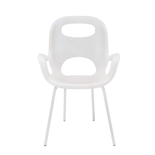 Umbra Oh Chair, Comfortable Seating Indoors and Outdoors, Weather-Resistant, White - Funky Modern Chair