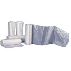 Colonial Bag High Density Trash Can Liners- 24 x 33, 15 Gallon, 6 mic, Clear (1000 Bags/Case)