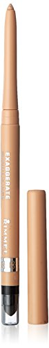 Rimmel Exaggerate Eye Definer, In The Nude, 1 Count, Waterproof Long Lasting Easy Twist Up Self-Sharpening Eye Color Pencil