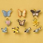 (Lenox Spring 10 Miniature Tree Ornaments Set Bird Butterfly Flower NO TREE)