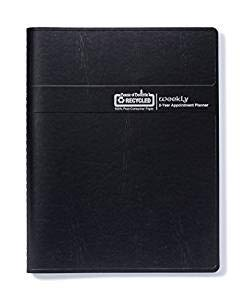 House of Doolittle 2019 - 2020 Two-Year Professional Weekly Planner, Black, 8.5 x 11 Inches, January - December (HOD272002-19)