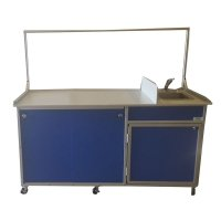 Monsam FSC-001 Food Service Cart with Portable Self Contained Sink44; Blue by Monsam