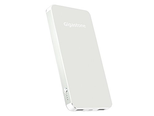 Gigastone 10000 mAh Power Bank P5 Silver 2.4A Out Dual USB Ports Lithium Polymer Cell in Aluminum Casing Mobile GS-P5K-100I-SLV-R