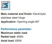SJ CL132S9C001 CL132-2 Stainless Steel Hinge