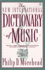 The New International Dictionary of Music, Philip D. Morehead, 0452011000
