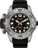 Bulova 96B226 Mens Limited Edition Sea King Black Rubber Watch