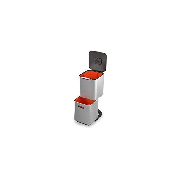 Joseph-Joseph-Totem-Compact-unita-Separazione-e-Riciclaggio-Rifiuti-40-Litri-Acciaio-Inossidabile