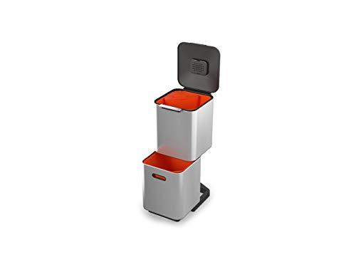 Joseph Joseph Unidad de separación de residuos y Reciclaje con una Capacidad de 40 litros Totem Compact Acero Inoxidable