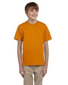 Gildan boys Ultra Cotton T-Shirt(G200B)-TEXAS ORANGE-L