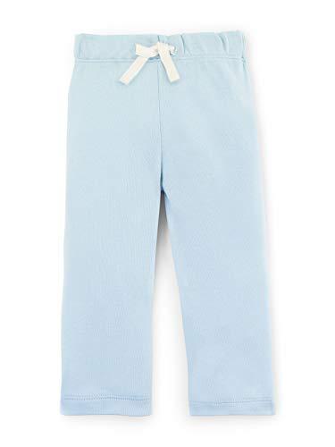 (Colored Organics Baby Unisex Organic Cotton Yoga Pants Newborn 0-3 Months Light Blue)