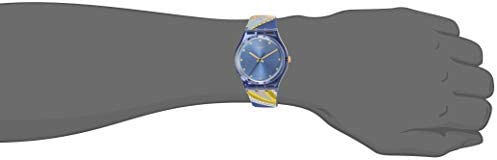 Swatch I Love Your Folk Quartz Silicone Strap, Blue, 16 Casual Watch (Model: GN263)
