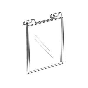 Acrylic Gridwall Sign Holder Horizontal 8 1/2