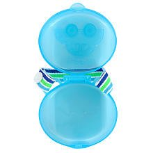 Babies R Us BPA Free Pacifier Case Protector Keeper - Cute Blue Car