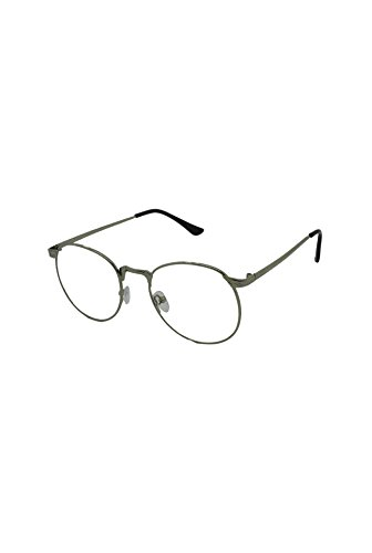 Homme Finecy Clear taille unique In with Frame soleil Lunettes Lens Silver de IqrI6fw