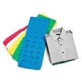 QIKE Kid Clothes/T-Shirt Folder Green/Yellow/Black/Pink/White/Blue/Orange Plastic Folding Board Easy and Fast Laundry Folder Flip-fold Rack for Children (Black)