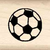 Stamps by Impression LT 46 Soccer Ball Rubber Stamp
