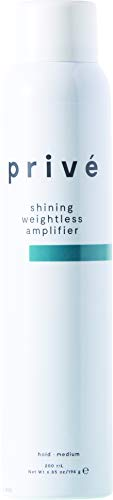 Privé Shining Weightless Amplifier - Massive Body, Altitude and Attitude for Voluminous and Brilliant Hair (6.85 Fluid Ounces / 200 Milliliters)