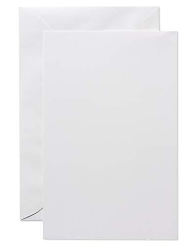 Blank Stationery - American Greetings Blank White Stationery Sheets and White Envelopes, 50-Count