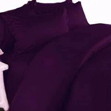 Elegant Comfort® Wrinkle-Resistant- 1800 Thread Count Luxury Silky Soft 6pc Bed Sheet Set Egyptian Quality Deep Pocket Up tp 16  , Queen, Purple